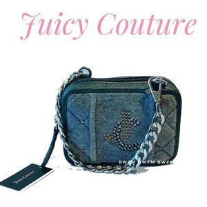 NWT Juicy couture Gary terry Wristlet rhinestone